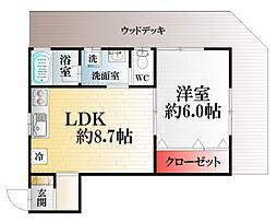 mi casa de 汐入[102号室]の間取り
