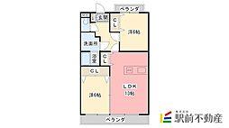 サンシャトー和賀[301号室]の間取り