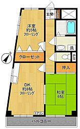 エクセル稲田[301号室]の間取り