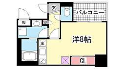 アスヴェル神戸元町Ⅱ[12階]の間取り