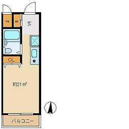サンフローラ武庫川[1階]の間取り