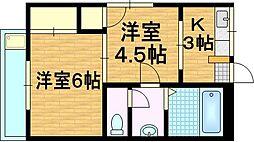 松井マンション[1階]の間取り