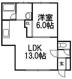 コーポ6・5[103号室]の間取り
