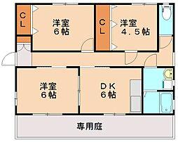エルグラン忠隈[1階]の間取り