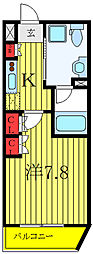 セジョリ板橋坂下II 2階1Kの間取り