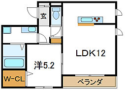 ロワール[3階]の間取り