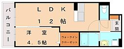 レジェンドソーラー日蒔野[5階]の間取り
