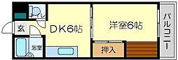 第11関根マンション[2階]の間取り