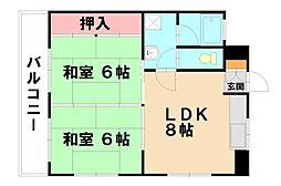 ウィステリア9[2階]の間取り