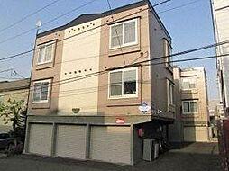 北海道札幌市豊平区平岸六条14丁目の賃貸アパートの外観