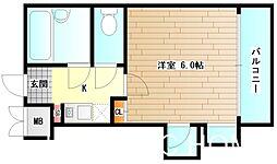 大阪府堺市北区常磐町3丁の賃貸マンションの間取り