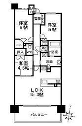 プラウドシティ新大阪[6階]の間取り