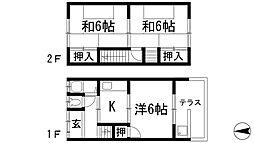 [テラスハウス] 兵庫県川西市松が丘町 の賃貸【/】の間取り