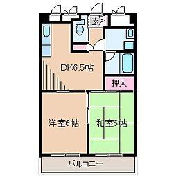 神奈川県横浜市神奈川区大口通の賃貸マンションの間取り