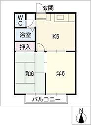 ビューハピネスU[2階]の間取り