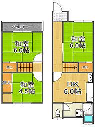 [テラスハウス] 兵庫県宝塚市平井5丁目 の賃貸【/】の間取り