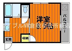 岡山県倉敷市平田の賃貸マンションの間取り