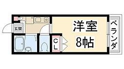 兵庫県伊丹市北伊丹7丁目の賃貸アパートの間取り