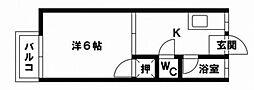 南福岡ホワイトコーポ[2階]の間取り