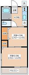 カーザヴェルデ[1−B号室]の間取り