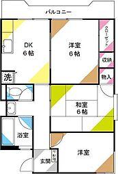 吉田コーポ[207号室]の間取り