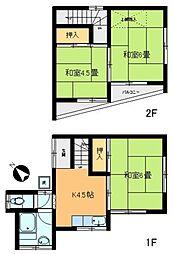 [一戸建] 東京都足立区鹿浜7丁目 の賃貸【東京都 / 足立区】の間取り