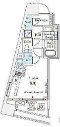 東京メトロ半蔵門線 表参道駅 徒歩12分の賃貸マンション 5階ワンルームの間取り