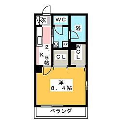 鶴見区生麦3丁目シャーメゾン(仮) 4階1Kの間取り