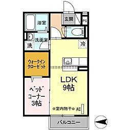 仮 D−room入谷[203号室]の間取り