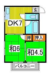 第二東華荘[1階]の間取り
