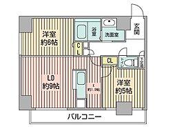 KDXレジデンス南三条[13階]の間取り
