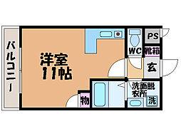 愛媛県松山市小坂1丁目の賃貸マンションの間取り