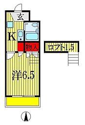 千葉県船橋市前原西1丁目の賃貸マンションの間取り
