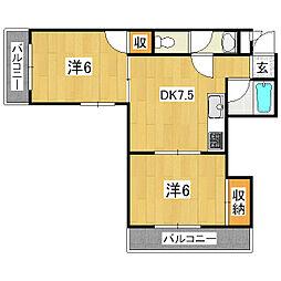 メゾン四の宮[3階]の間取り