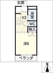 ランドマークK[3階]の間取り