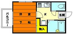 レジデンス香住ヶ丘[1階]の間取り