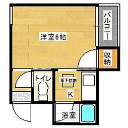 タウニー大橋No5[1階]の間取り