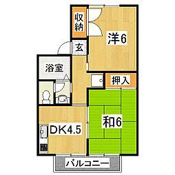 セジュールつつみA棟[1階]の間取り