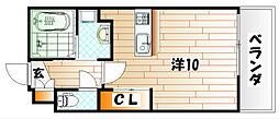 アクシオ小倉[10階]の間取り