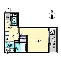 Maison de Quatre III 1階1Kの間取り
