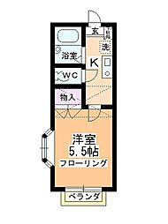 エクセラ[2階]の間取り