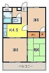 ベルキャニオン[2階]の間取り