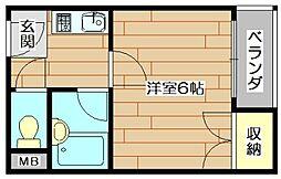エレガンス舞[2階]の間取り