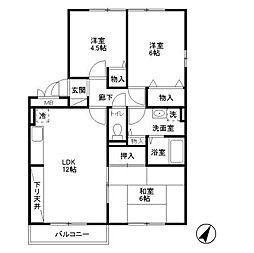 リビングタウン新潟A[3階]の間取り