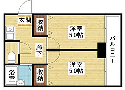 豊新・セリオ[4階]の間取り