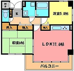住吉本町壱番館[4階]の間取り