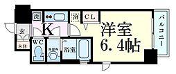 Osaka Metro御堂筋線 新大阪駅 徒歩6分の賃貸マンション 10階1Kの間取り