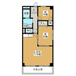 メゾンドアール[4階]の間取り