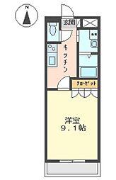 サンモール中島A[2階]の間取り