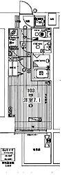 プレミアムコート谷町4丁目[8階]の間取り